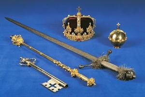 Kungliga skattkammaren -Eriks XIV:s regalier.