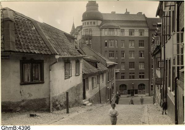 Drottning Kristinas Jaktslott vid Södra Liden. Foto av A. Lindskog före 1929. Foto från GSM.