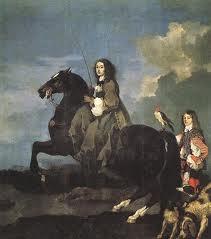 Drottning Christina till häst. Pradomuseet