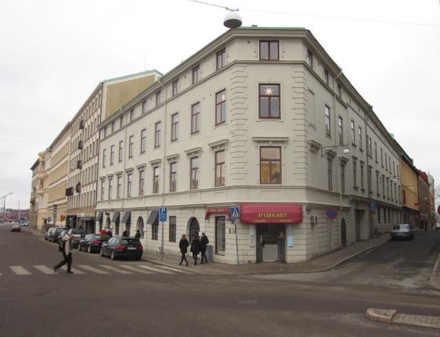 Radheska huset på Hamngatan 10 i december 2012. Foto av Eskil Malmberg.
