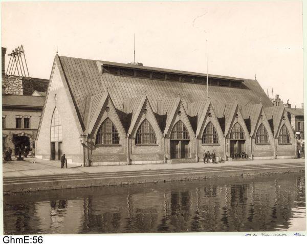 Feskekörka 1901. Foto av Aron Jonasson. Från Göteborgs stadsmuseum.