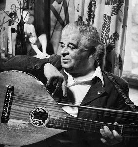 Evert Taube, 1953, Foto: K. W. Gullers