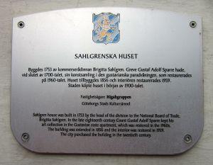 Sahlgrenska huset, plakett, WikiCommons