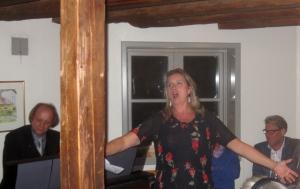 """""""Till havs"""" med Carolina Sandgren, vid orgeln Lenart Palm."""