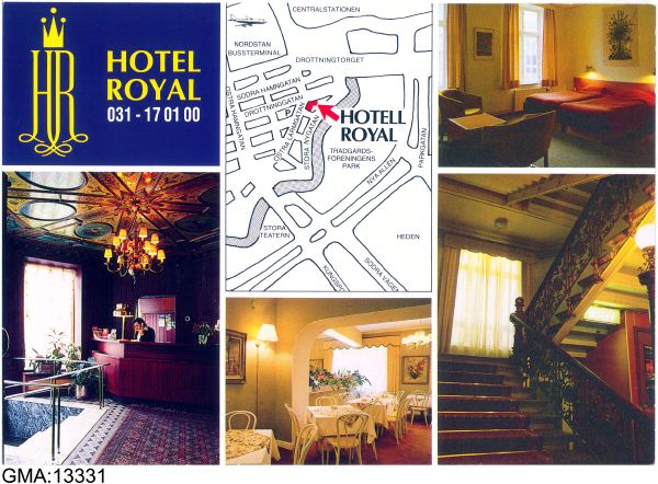 Hotel Royal, vykort från 1988, GSM